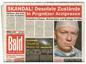 Böse Schlagzeile in der Zeitung